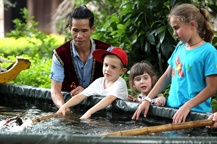 Learning How to Control Water Puppets  at Longlink Water Puppet Theatre